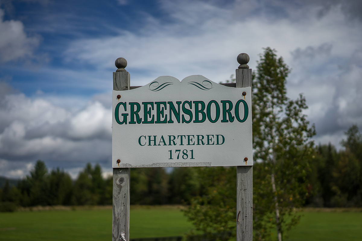 2016 – Summer – Greensboro Town Sign