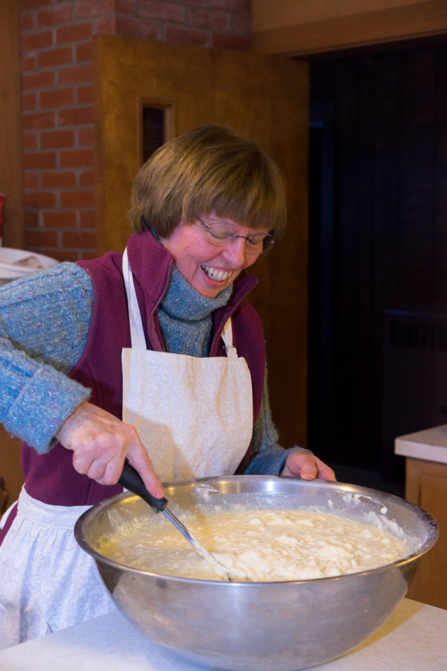 Jan with the big bowl o' batter