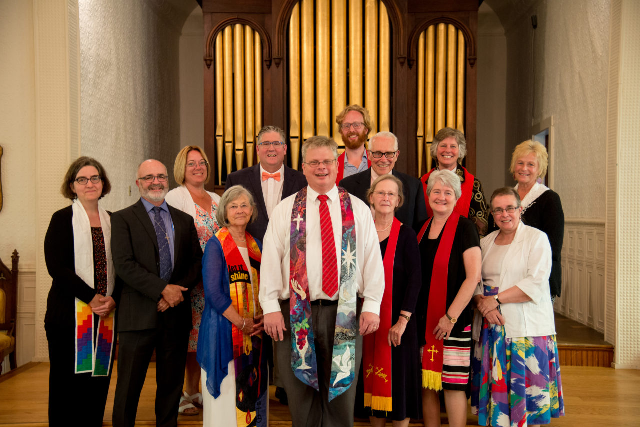 Reverend Ed Sunday-Winters with UCC Installation group